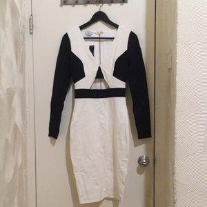 B&W Color Blocked Dress